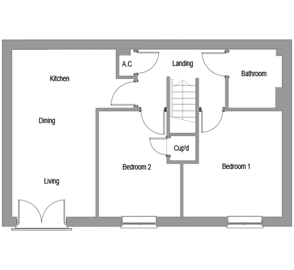 The Maple first floor floorplan