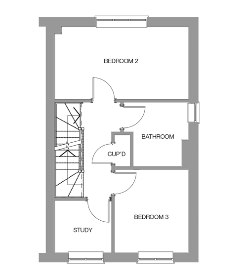 The Oak First Floor floor plan