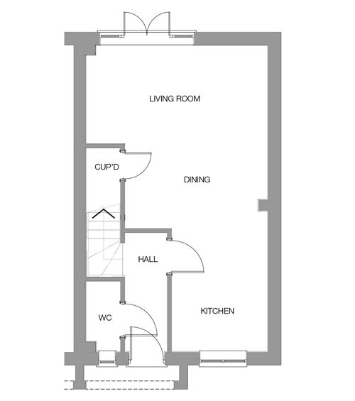 The Oak Ground Floor floor plan