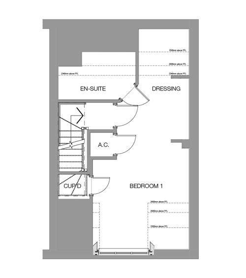 The Oak Second Floor floor plan
