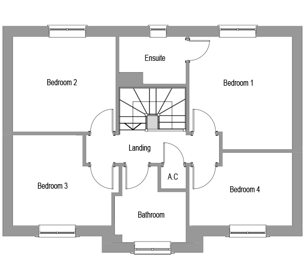 The Sycamore first floor floorplan