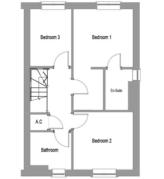 The Willow first floor floorplan