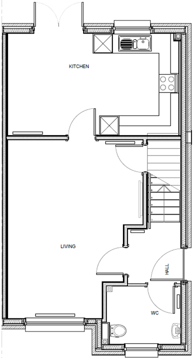 Fitzpatrick floor plan, ground floor.