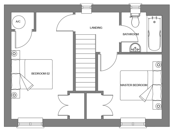 Type A floor plan - first floor
