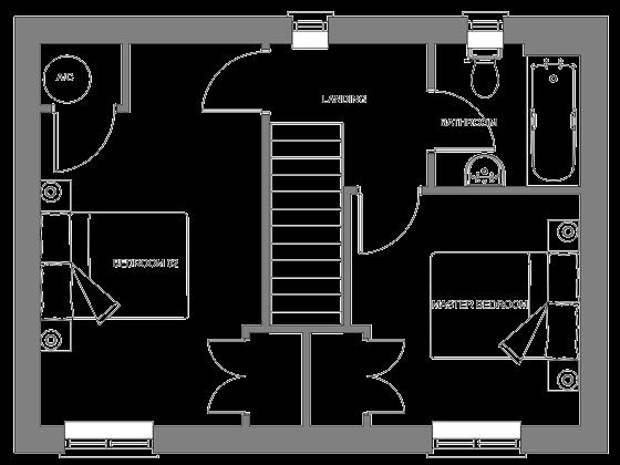 Type A floor plan - first floor