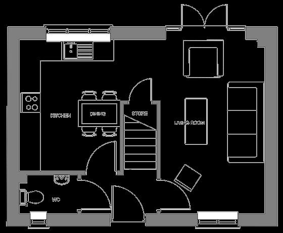 Type A floor plan - ground floor