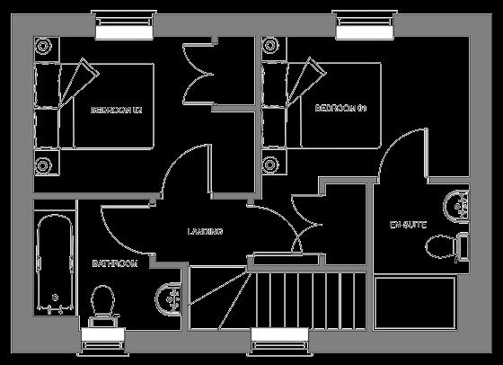 Type E floor plan - first floor