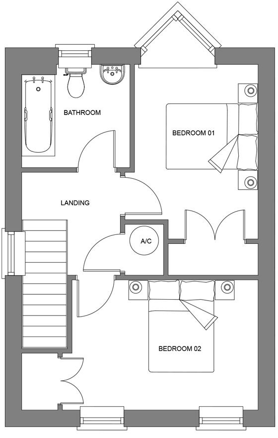 Type G first floor floor plan