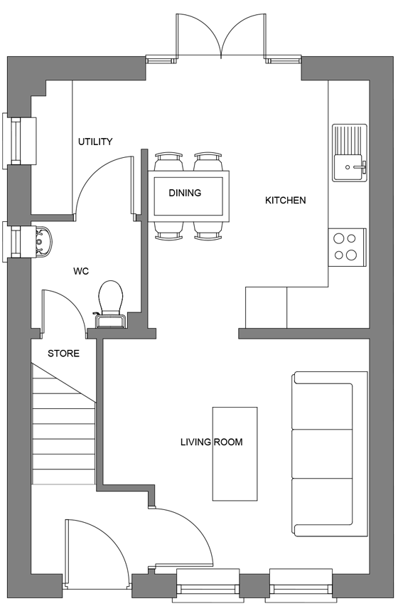 Type G ground floor floor plan