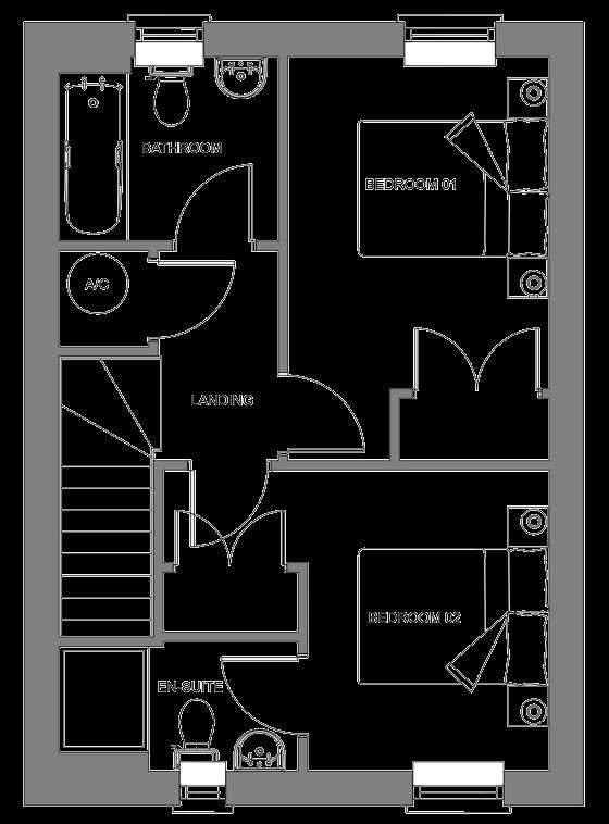 Type K floor plan - first floor