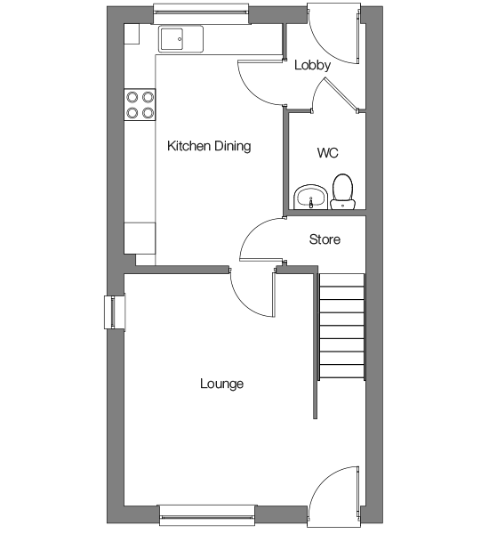 The Bosun ground floor floorplan