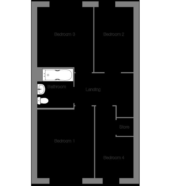 The Halyard first floor floorplan