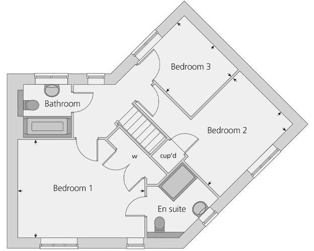 The Prescott floor plan first floor