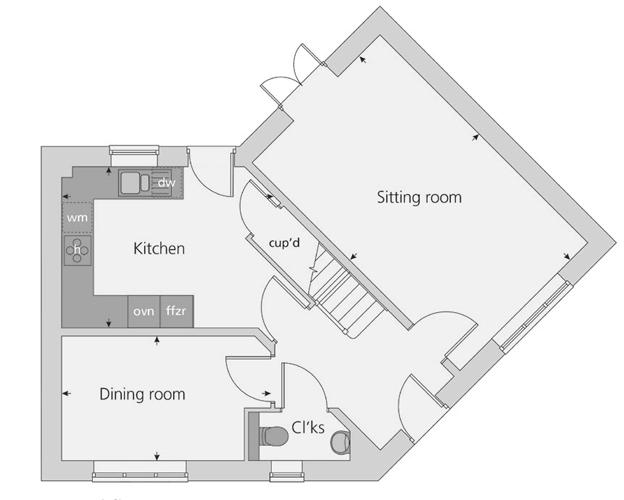 The Prescott floor plan ground floor