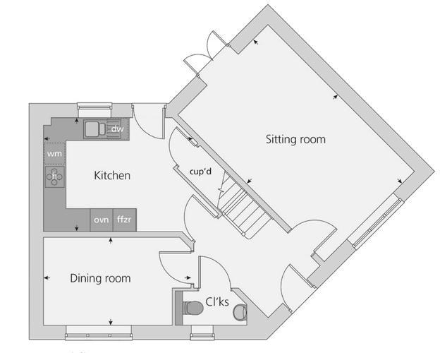 The Prescott floor plan ground floor