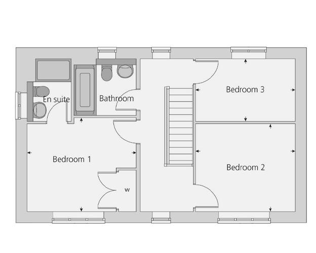 The Spelsbury floor plan first floor
