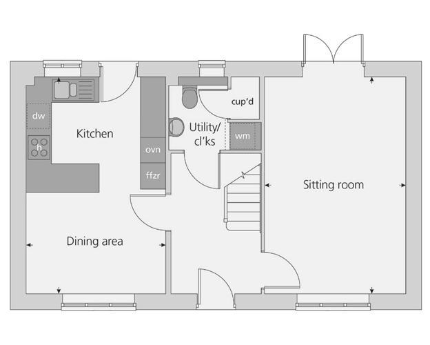 The Spelsbury floor plan ground floor