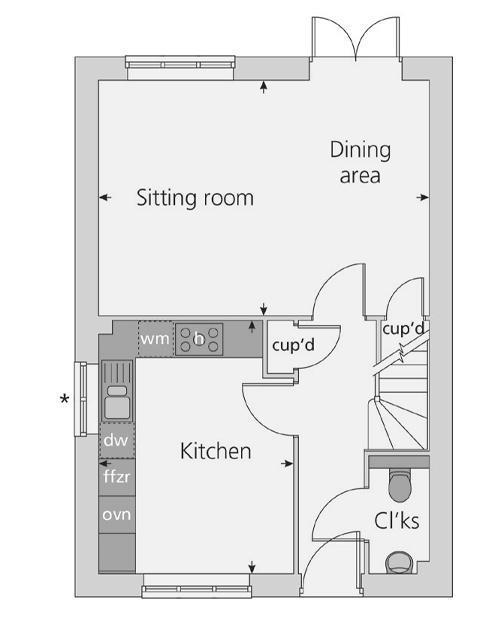 The Wimborne floor plan ground floor