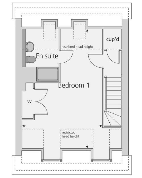 The Wimborne floor plan second floor