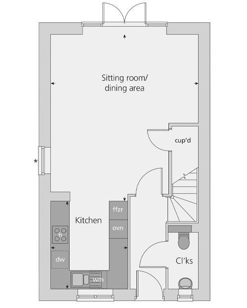 The Southwold floor plan ground floor