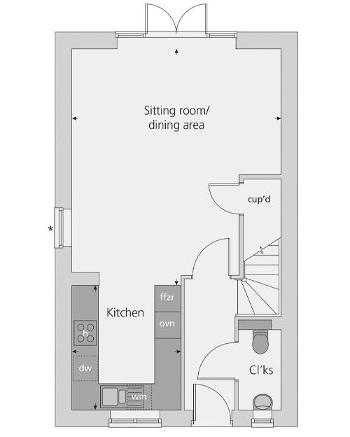 The Southwold floor plan ground floor