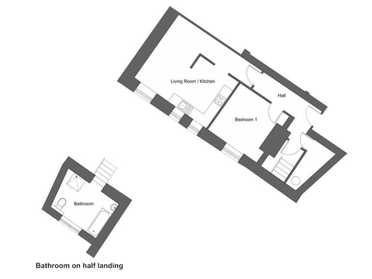 Floor plan for apartment 3 at our Station Square development in Harrogate.