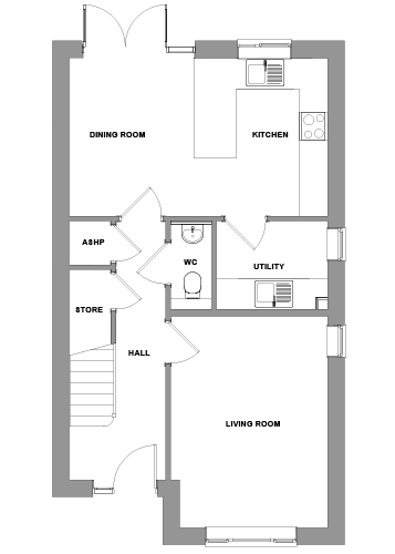The Abberton Floorplan - Ground Floor