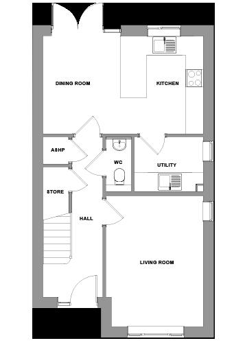 The Abberton Floorplan - Ground Floor