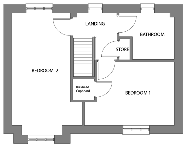 The Abbey first floor floor-plan