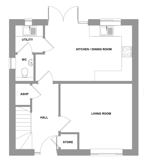 The Ardleigh -  Ground Floor Floor plan