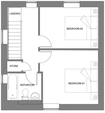 The Ash first floor floor-plan
