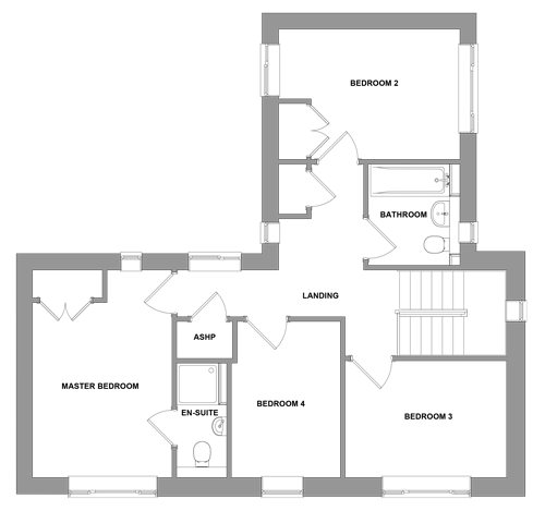 The Bentley -  First Floor Floor plan