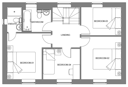 The Birch first floor floor-plan