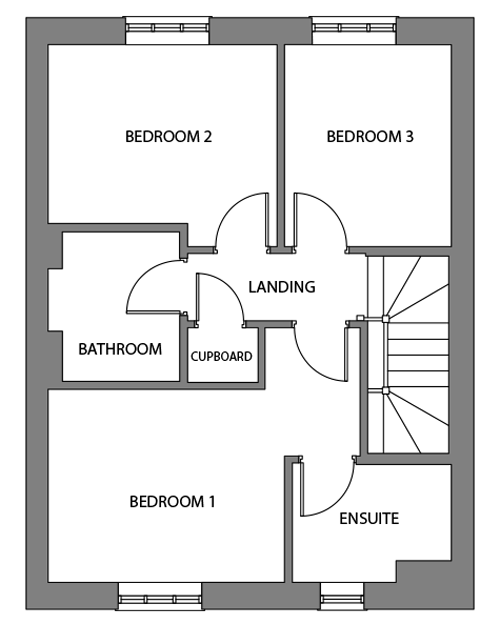 The Bishop first floor floor-plan