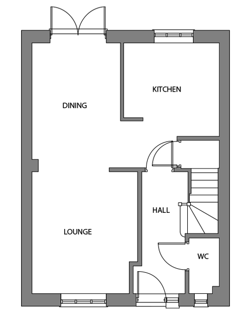 The Bishop ground floor floor-plan