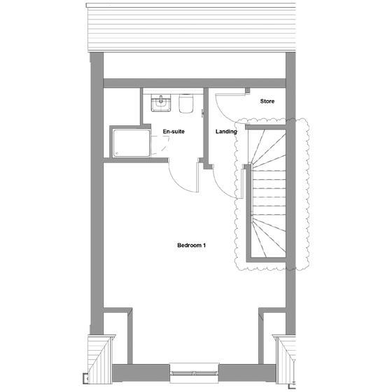The floorplan of The Braeburn second floor