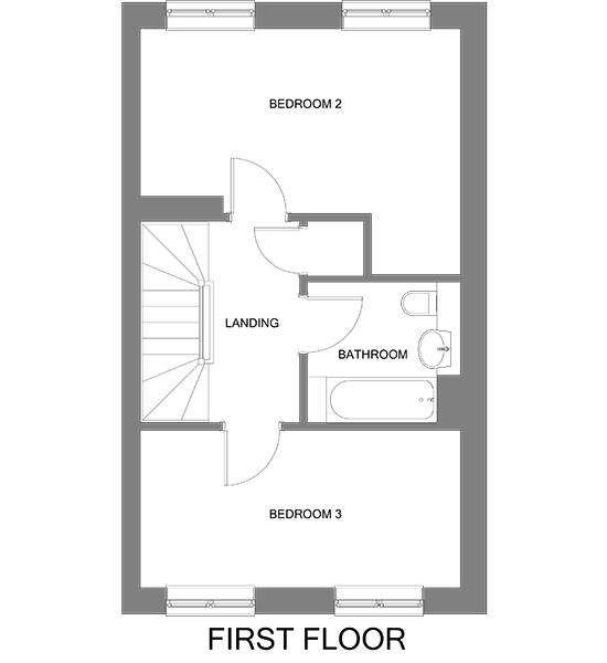 Floorplan showing the first floor of The Bredgar house at our Gatton Grove development