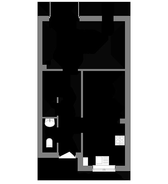 Floorplan showing the ground floor of The Bredgar house at our Gatton Grove development