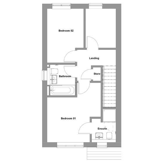 The floorplan of The Breedon first floor