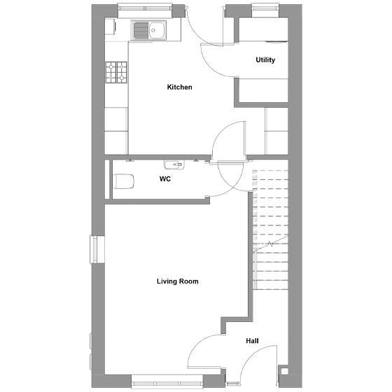 The floorplan of The Breedon ground floor