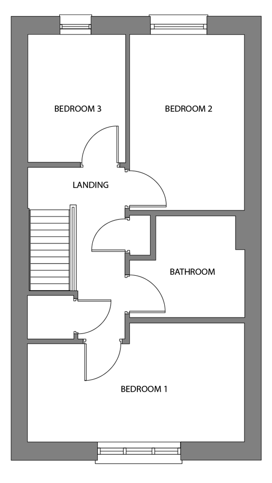 The Ebbor first floor floor plan