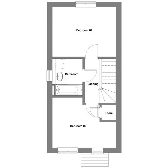 The floorplan Of The Ellison House first floor