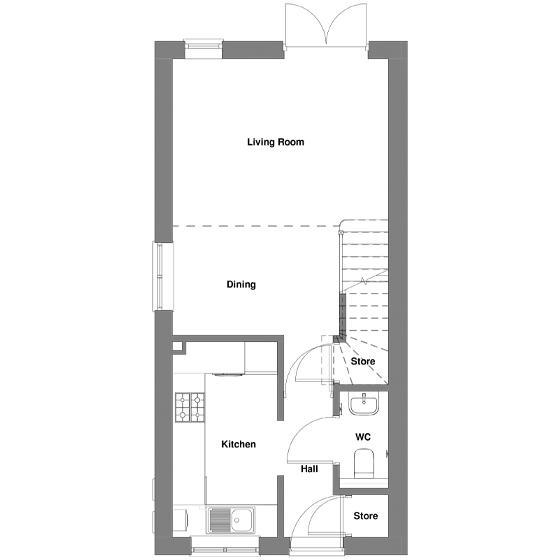 The floorplan Of The Ellison House ground floor