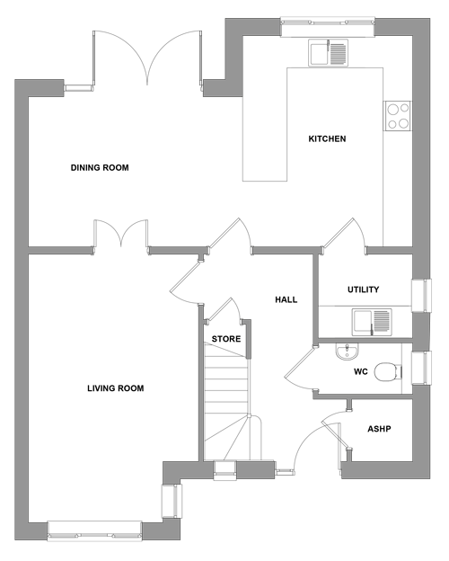 The Elmstead -  Ground Floor Floor plan