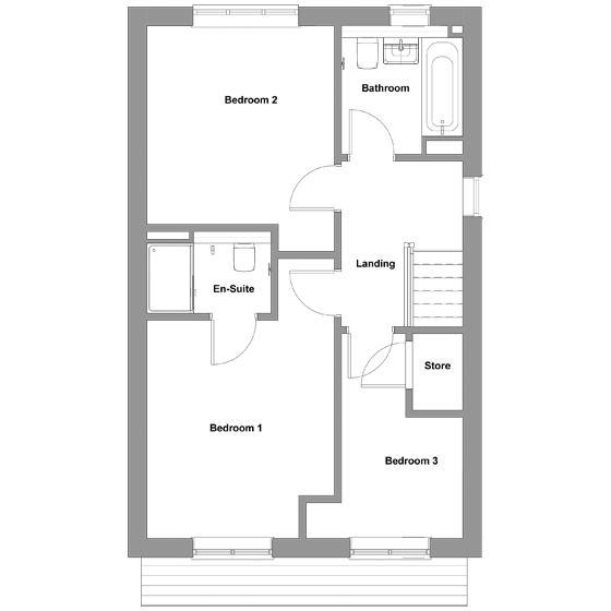 The floorplan of The Gala first floor