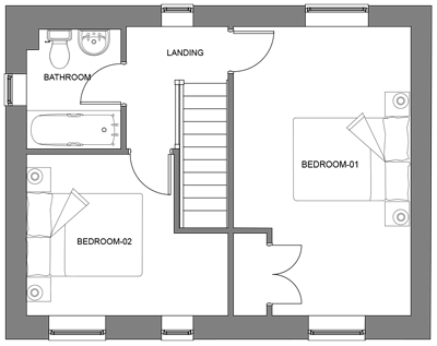 The Hawthorn first floor floor-plan