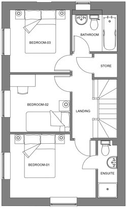 The Hazel first floor floor-plan