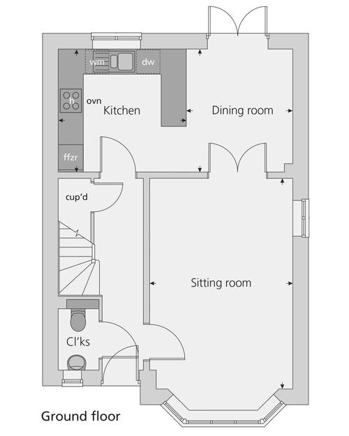 The Horton floor plan ground floor