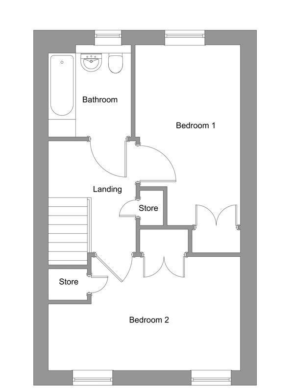 The floor plan of The Macdonald first floor.