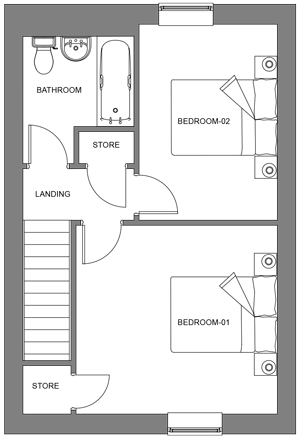 The Maple first floor floor-plan